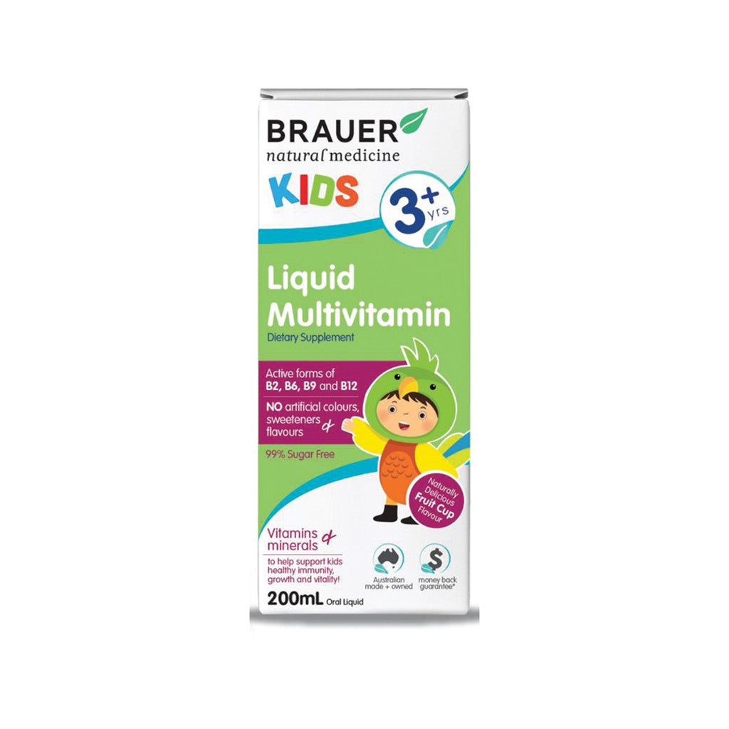 Brauer Kids Multivitamin with Iron Liquid 200ml