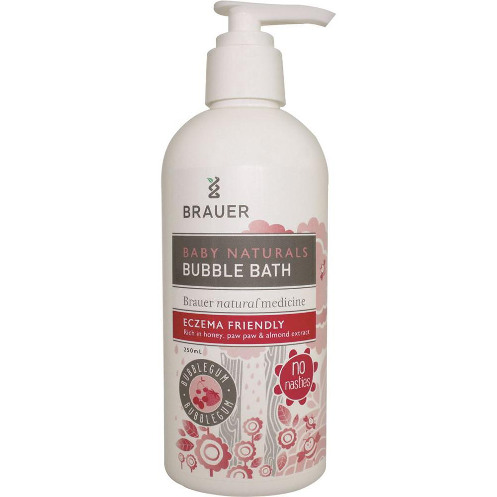 Brauer Naturals Baby Bubble Bath Eczema Friendly Bubblegum 250ml