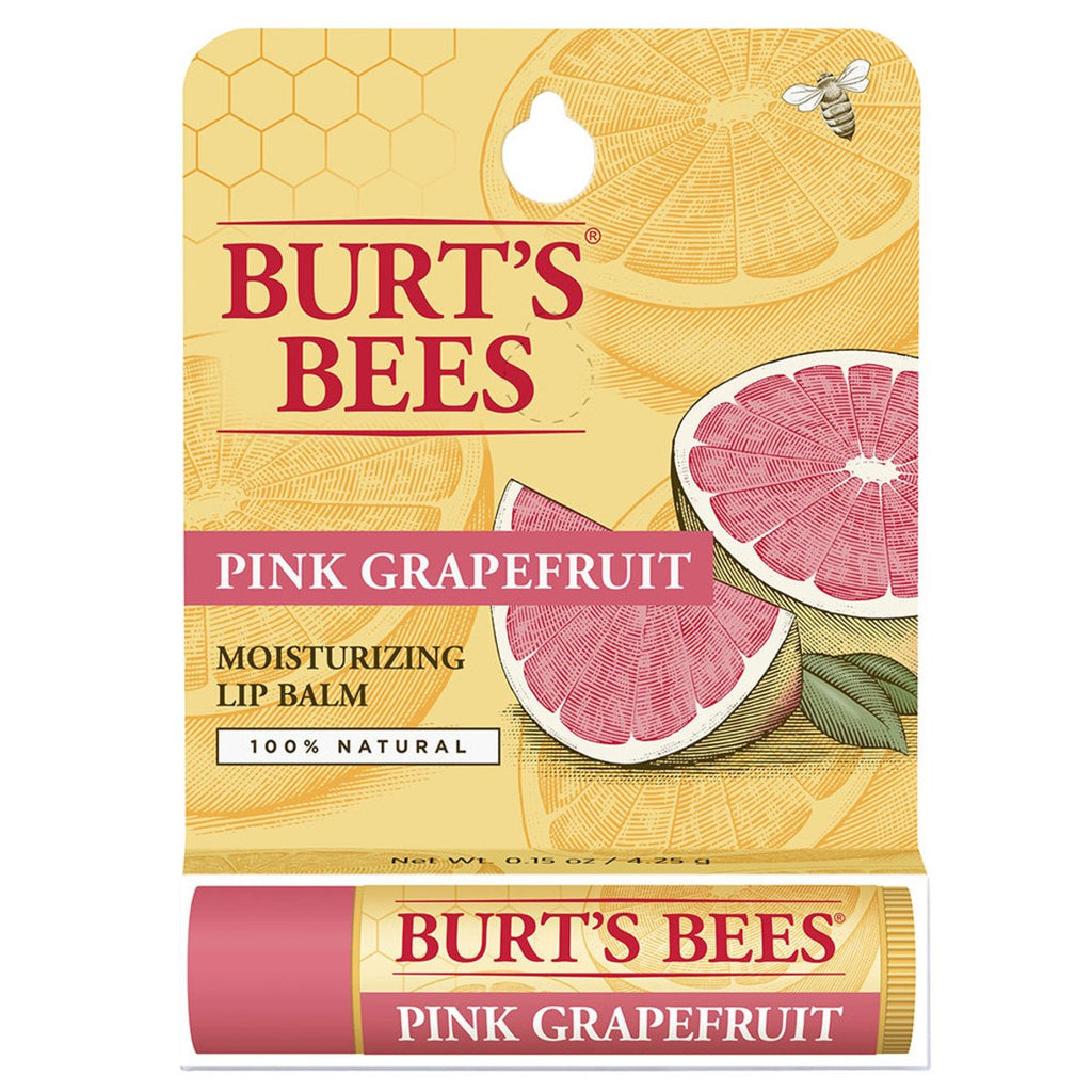 Burt's Bees Lip Balm Pink Grapefruit Refreshing Tube 4.25g