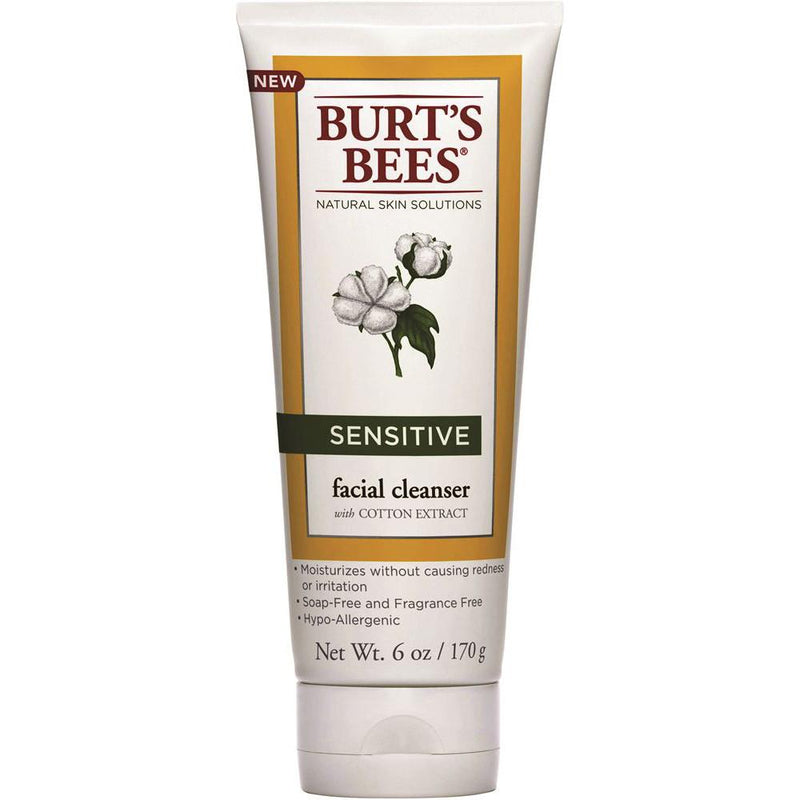 Burt's Bees Sensitive Facial Cleanser w Cotton Extract 170g