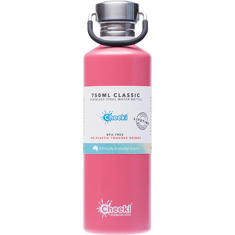 Cheeki Stainless Steel Bottle Matte Dusty Pink 750ml