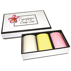 Clover Fields Frangipani Soap Boxed 100g x 3 Pack