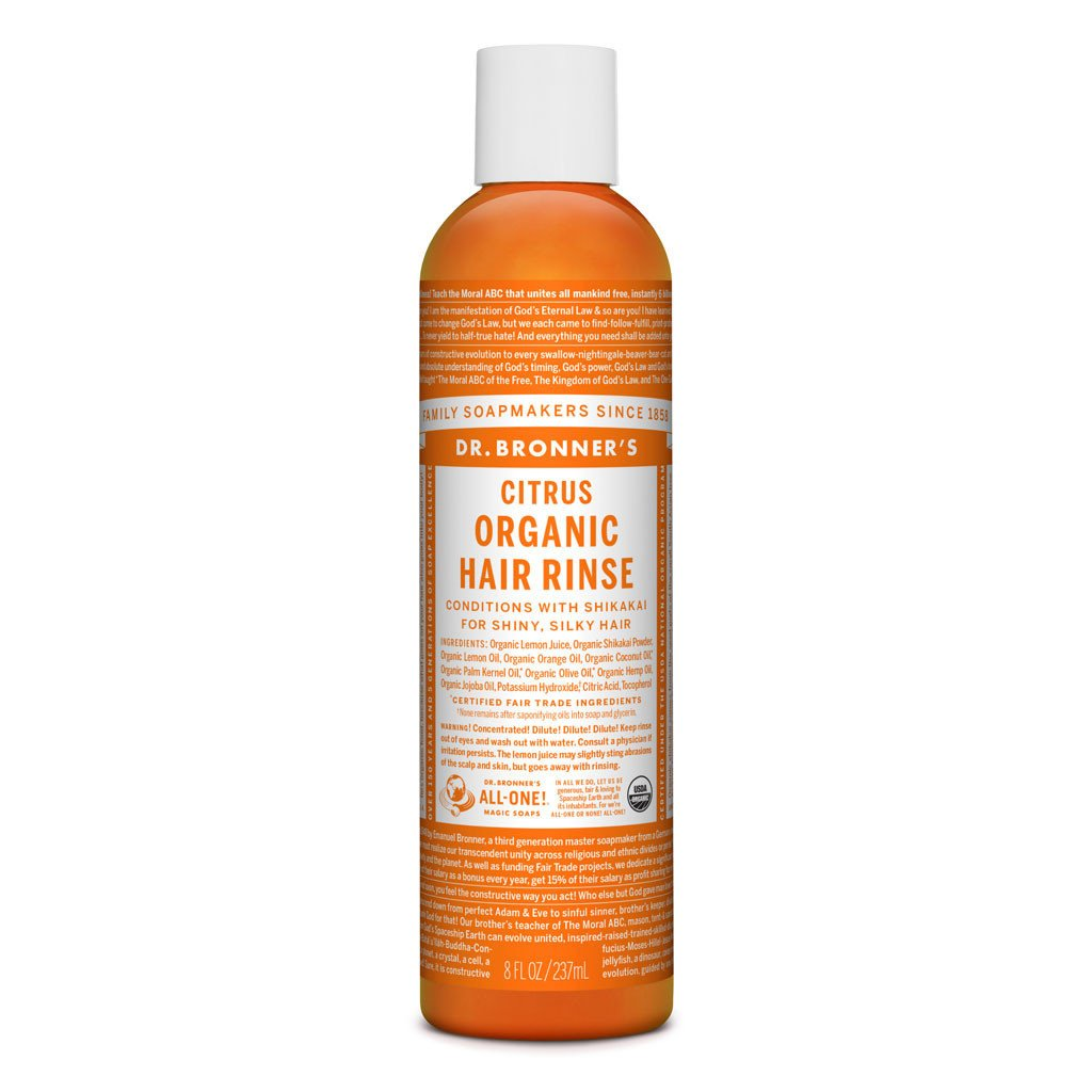 Dr Bronner's Organic Hair Conditioning Rinse 237ml Citrus