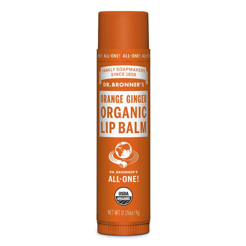Dr Bronner's Organic Lip Balm 4g Orange Ginger