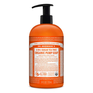 Dr Bronner's Organic Pump Soap Tea Tree