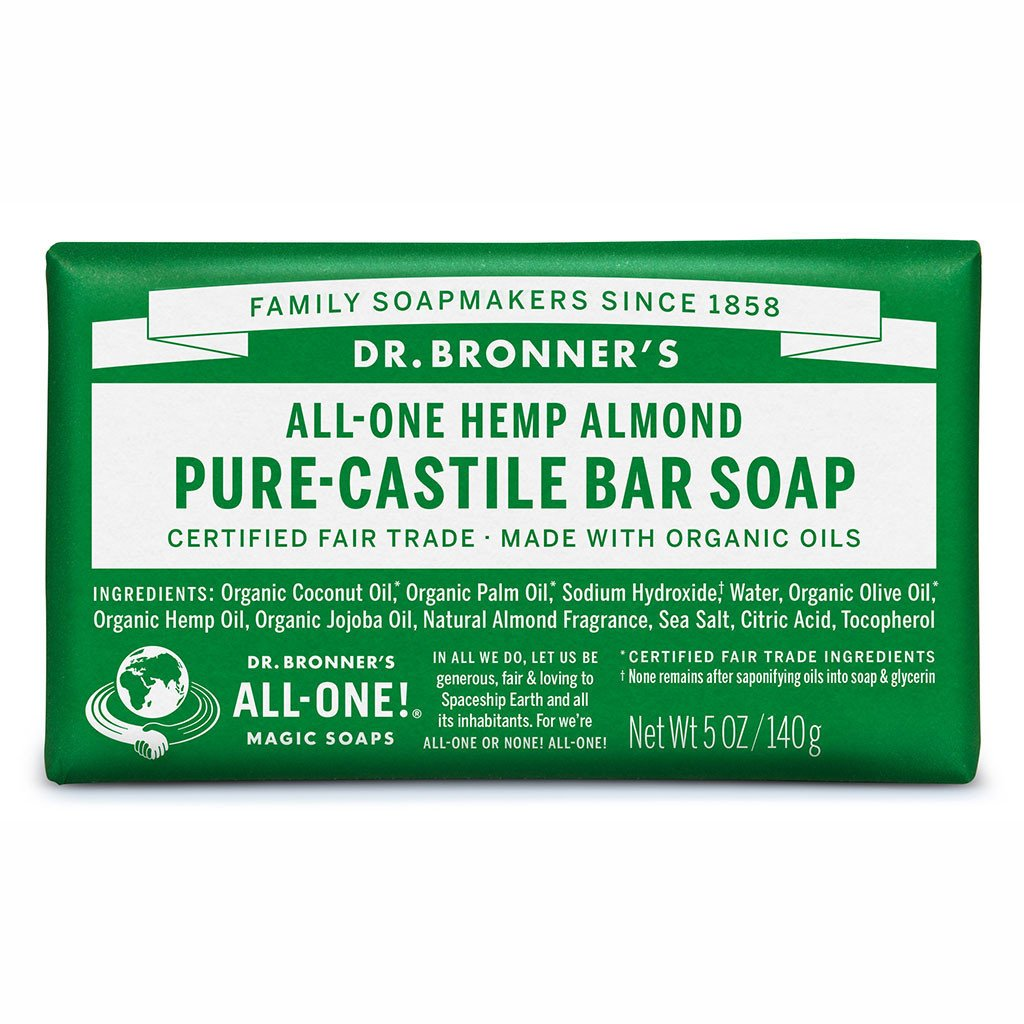 Dr Bronner's Pure-Castile Bar Soap 140g Almond