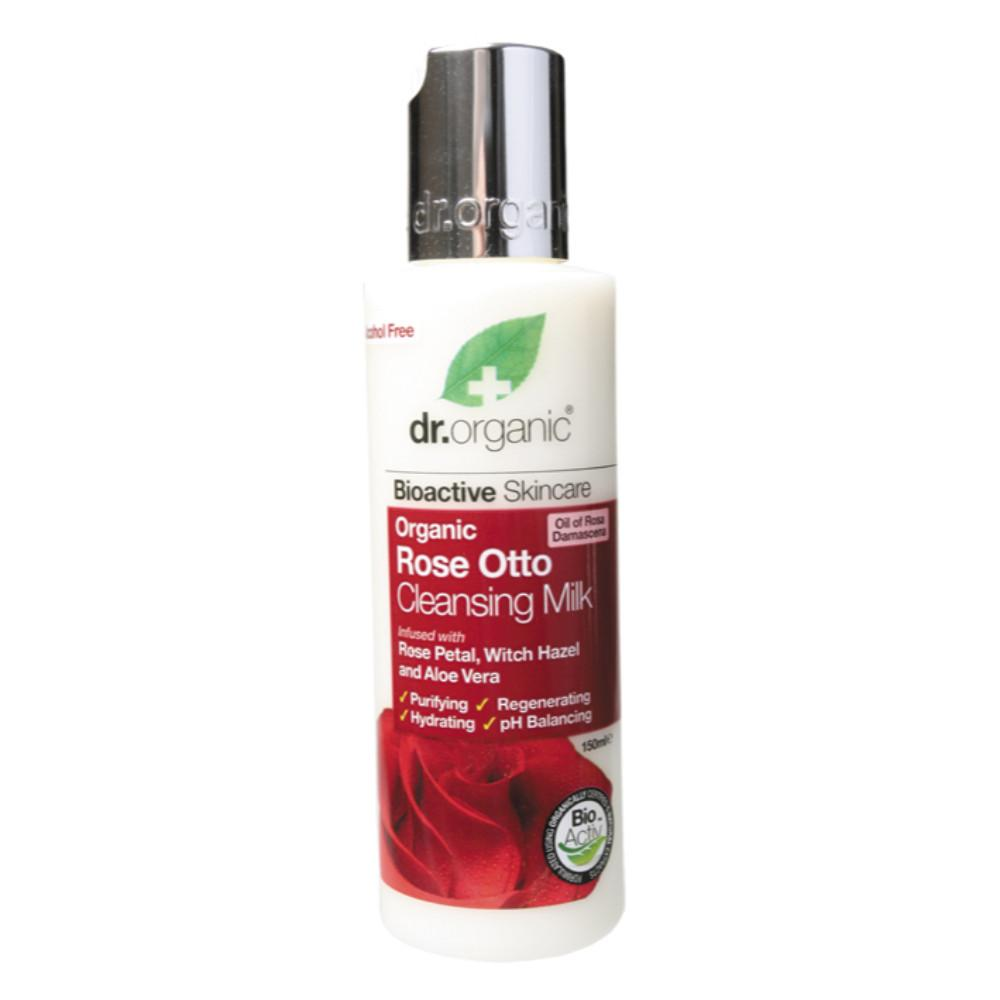 Dr Organic Cleansing Milk 150ml Organic Rose Otto