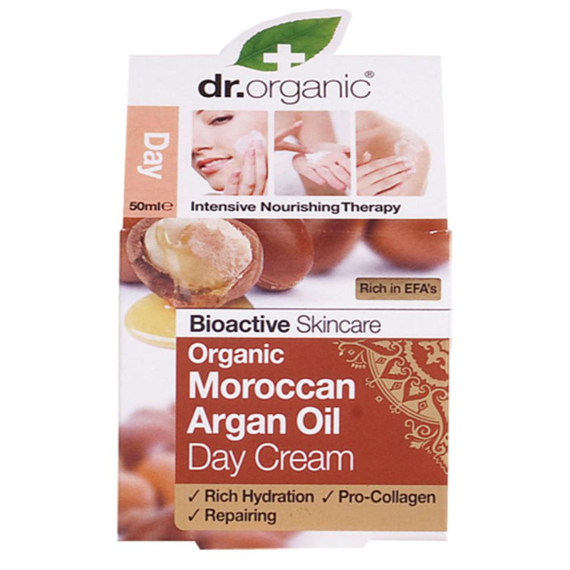Dr Organic Day Cream 50ml Organic Moroccan Argan Oil
