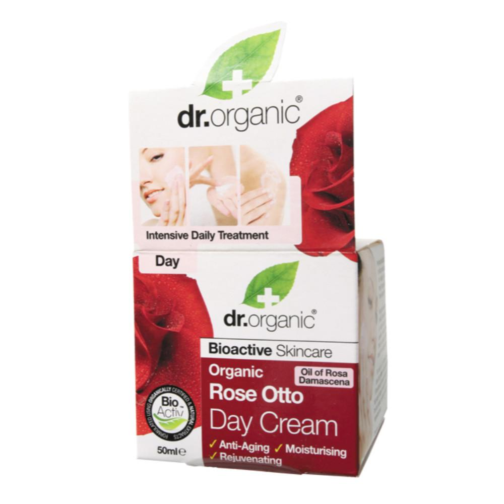 Dr Organic Day Cream 50ml Organic Rose Otto