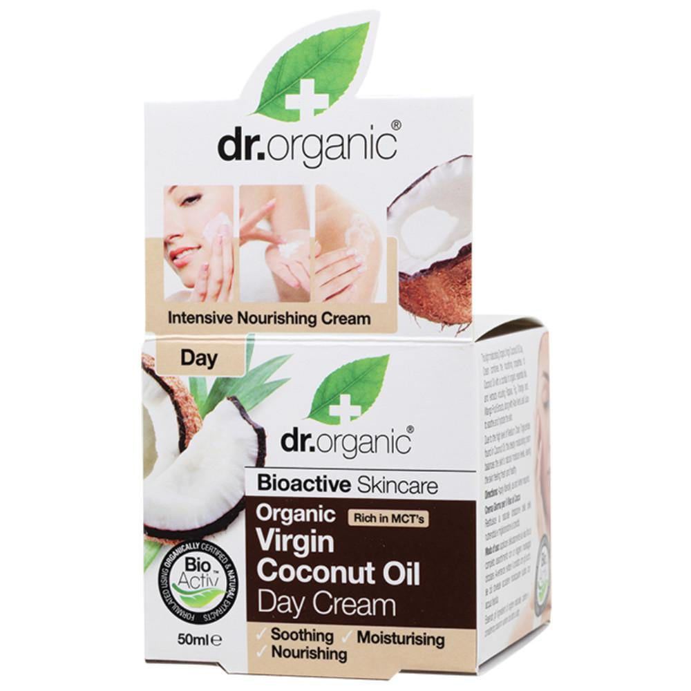 Dr Organic Day Cream 50ml Organic Virgin Coconut Oil