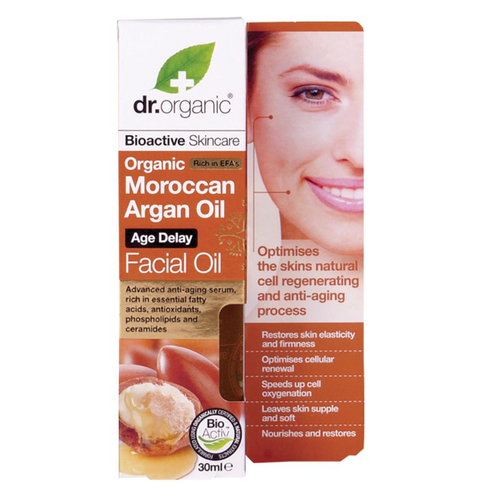 Dr Organic Facial Oil 30ml Organic Moroccan Argan Oil