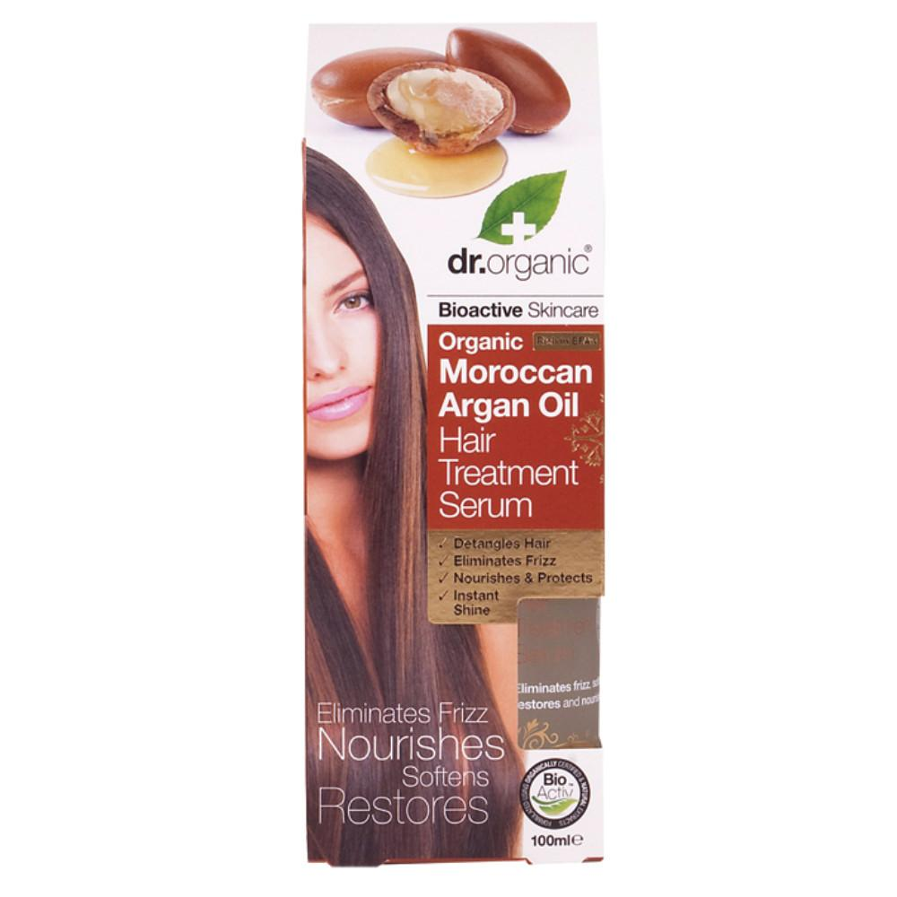 Dr Organic Hair Treatment Serum 100ml Organic Moroccan Argan Oil