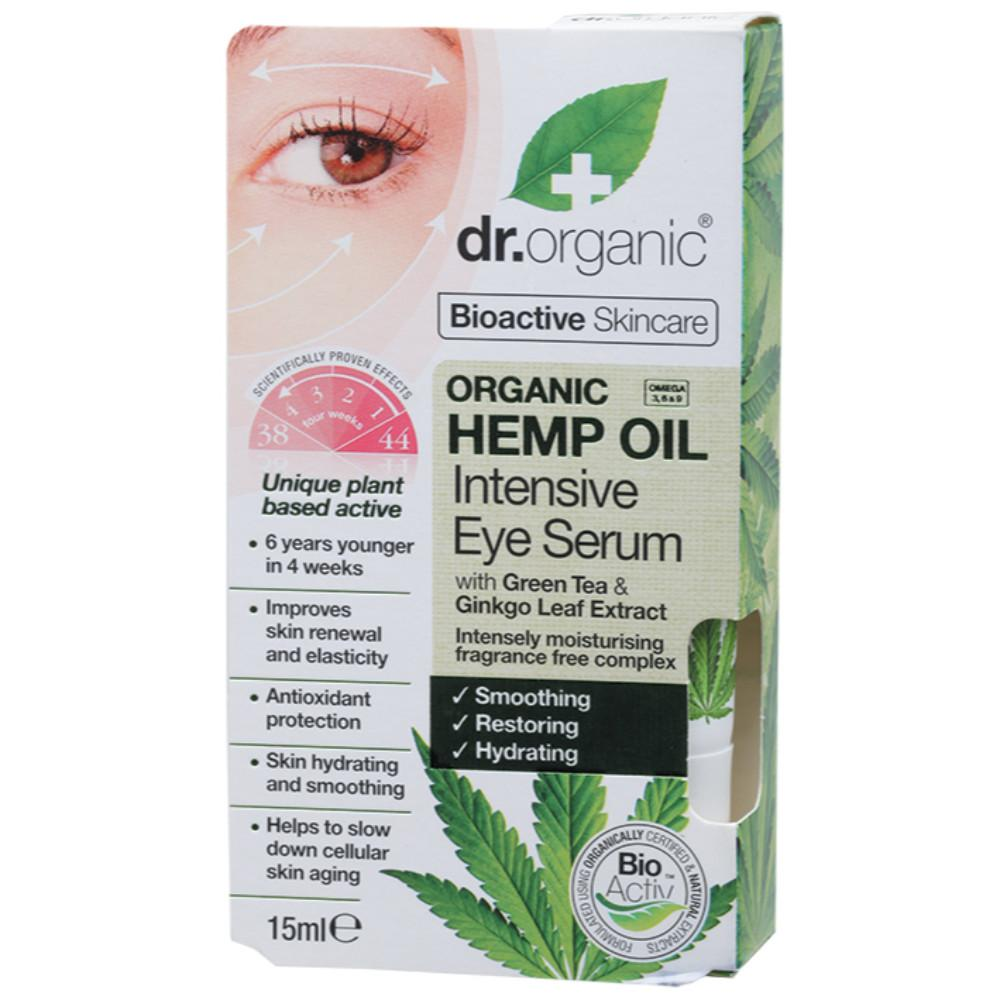 Dr Organic Intensive Eye Serum 15ml Organic Hemp Oil