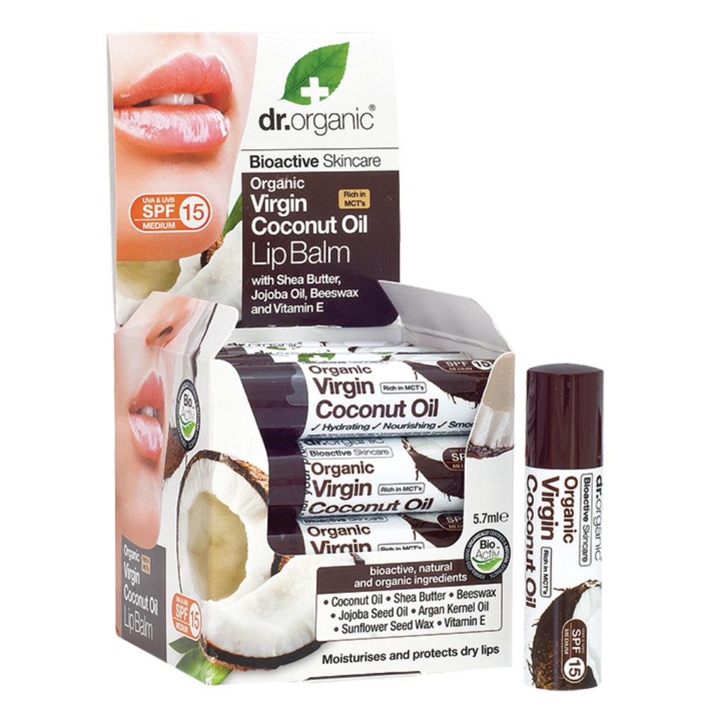 Dr Organic Lip Balm - SPF 15 5.7ml Organic Virgin Coconut Oil