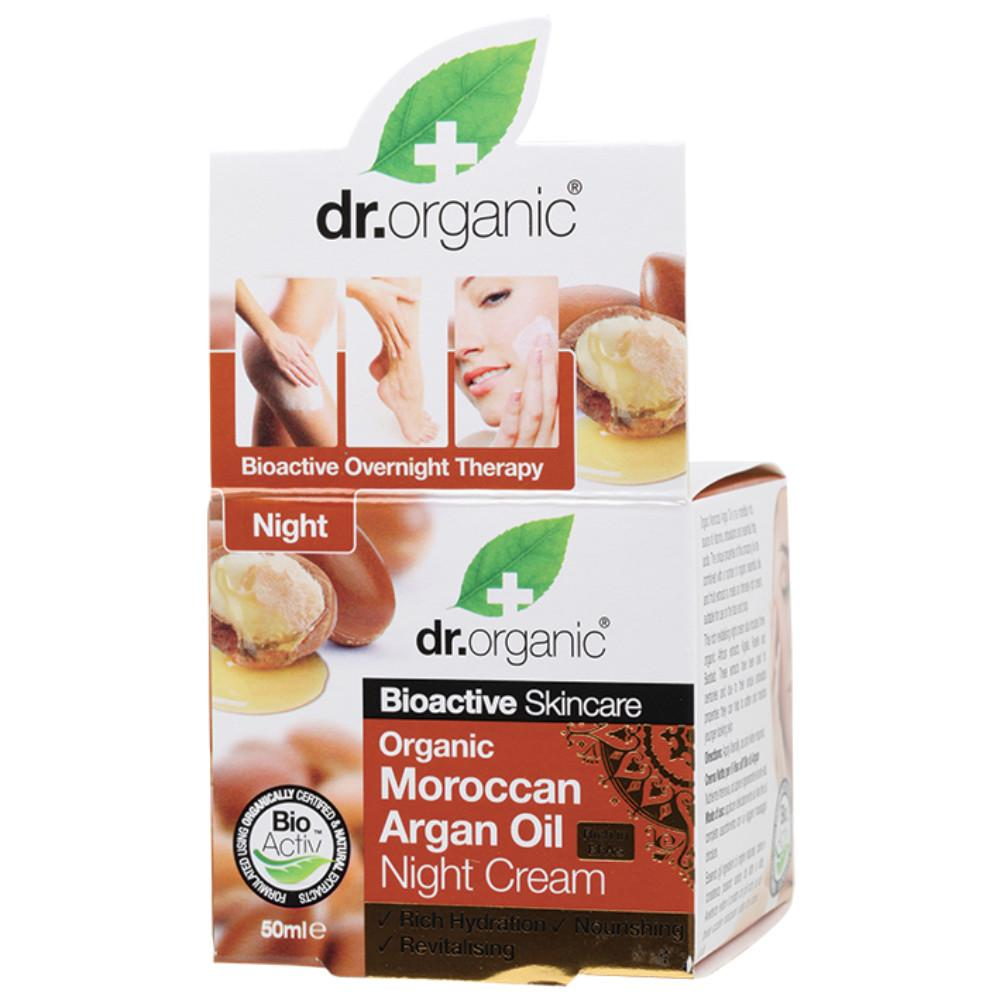 Dr Organic Night Cream 50ml Organic Moroccan Argan Oil