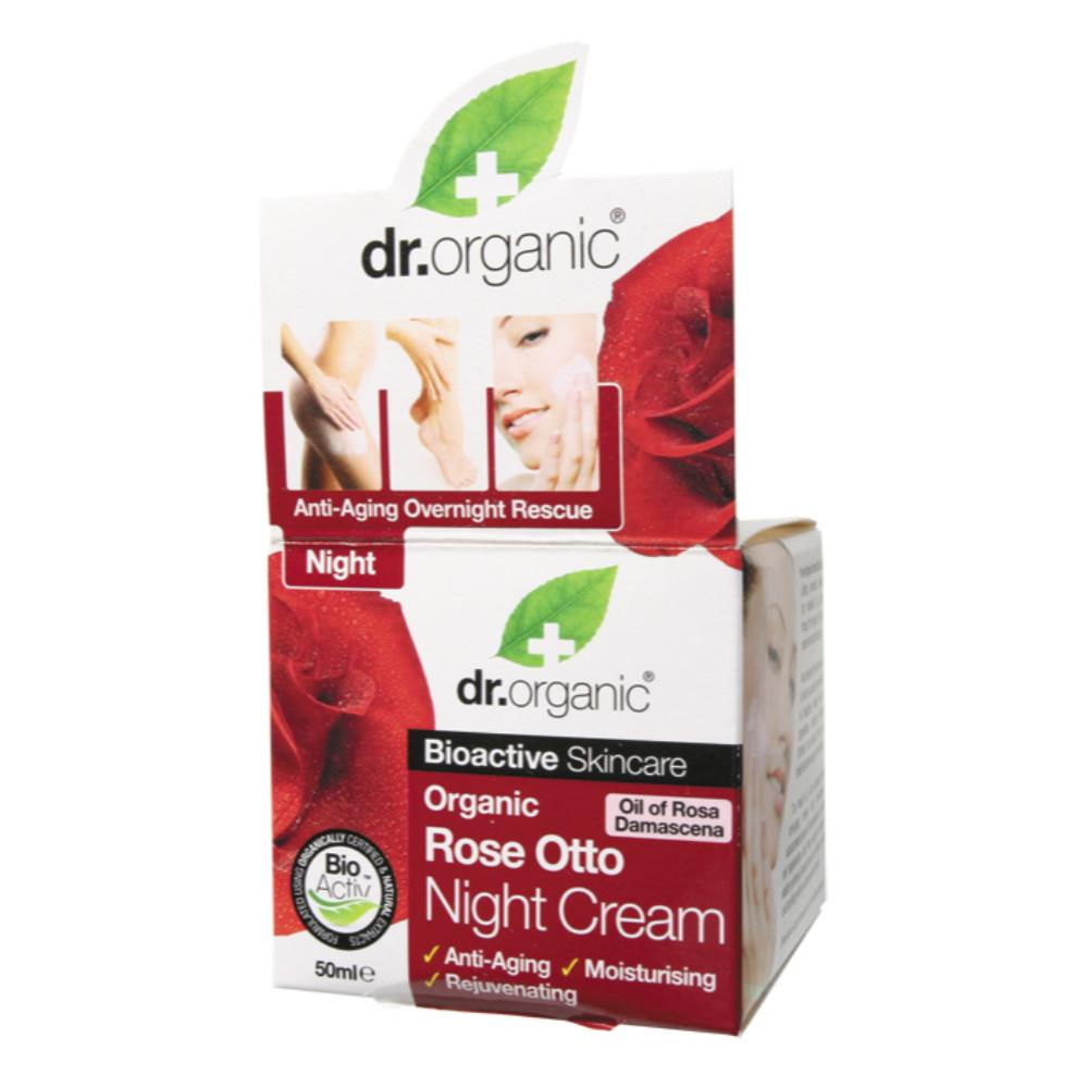Dr Organic Night Cream 50ml Organic Rose Otto