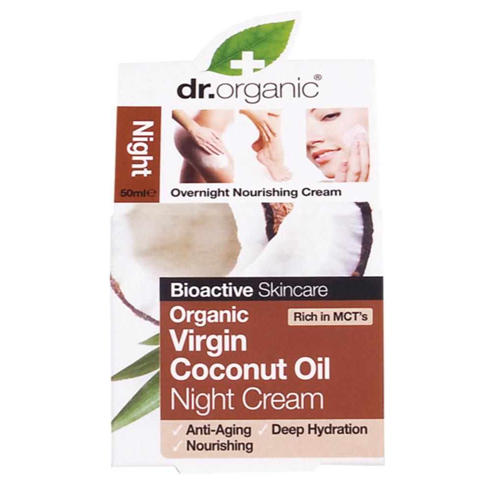 Dr Organic Night Cream 50ml Organic Virgin Coconut Oil