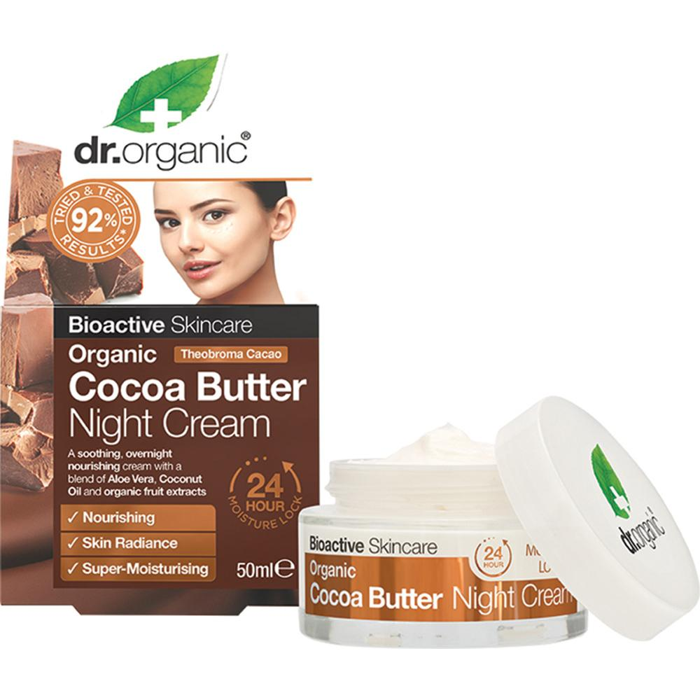 Dr Organic Night Cream Organic Cocoa Butter 50ml