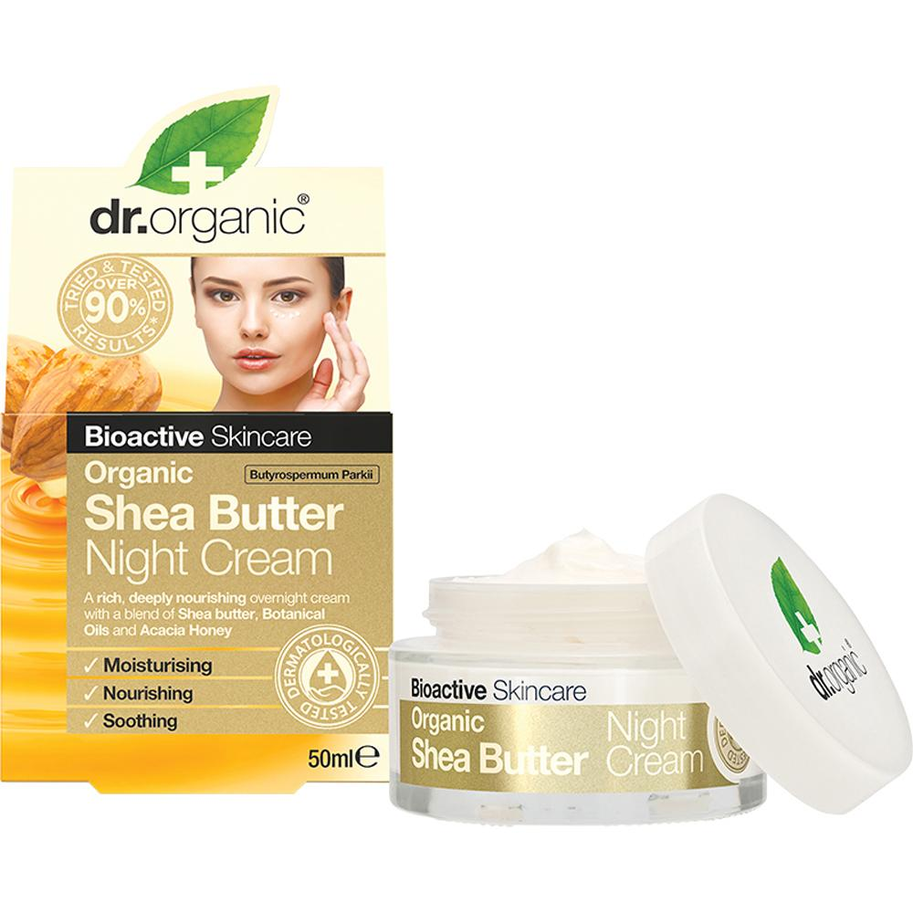 Dr Organic Night Cream Organic Shea Butter 50ml