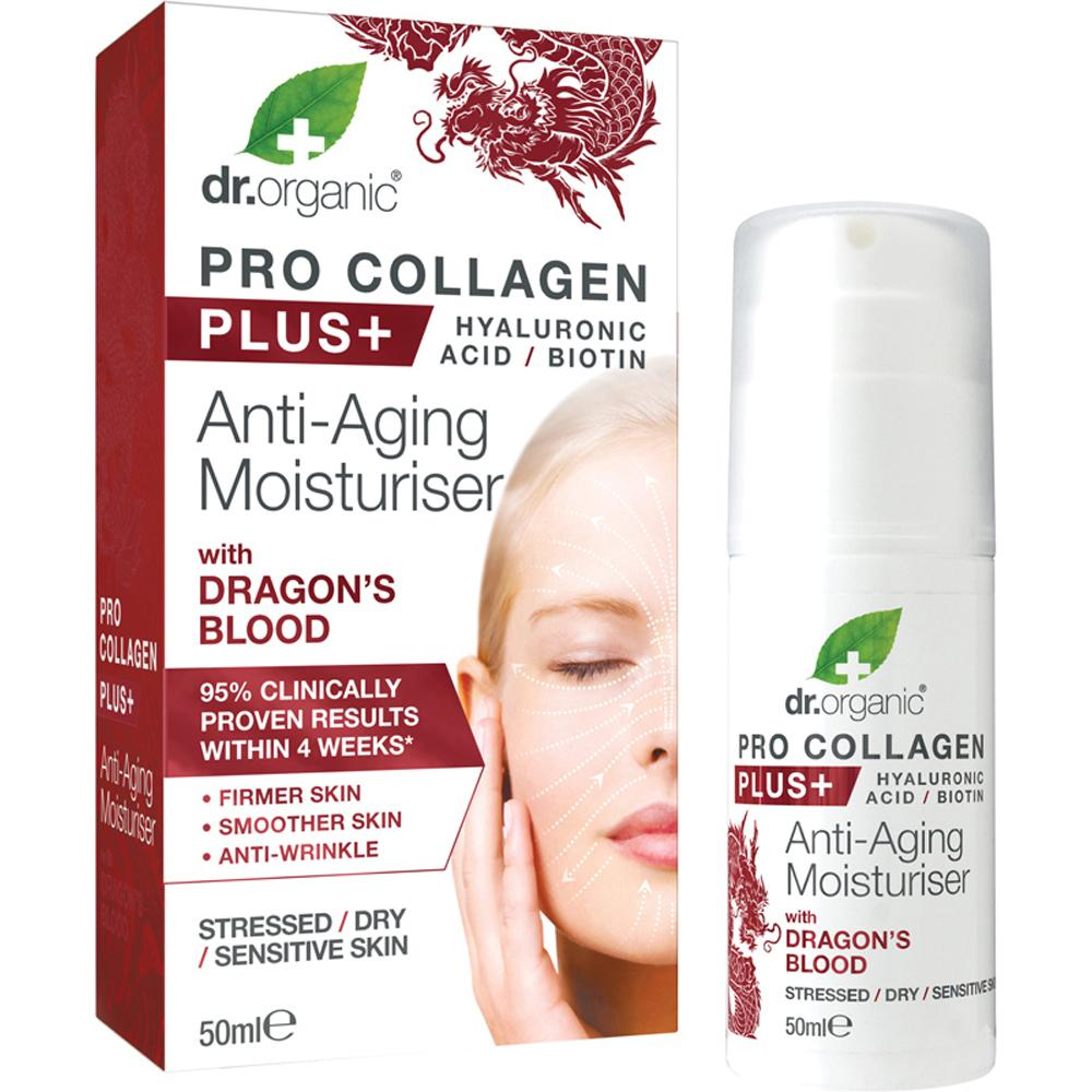 Dr Organic Pro Collagen Plus+ Anti Aging Moisturiser With Dragons Blood 50ml