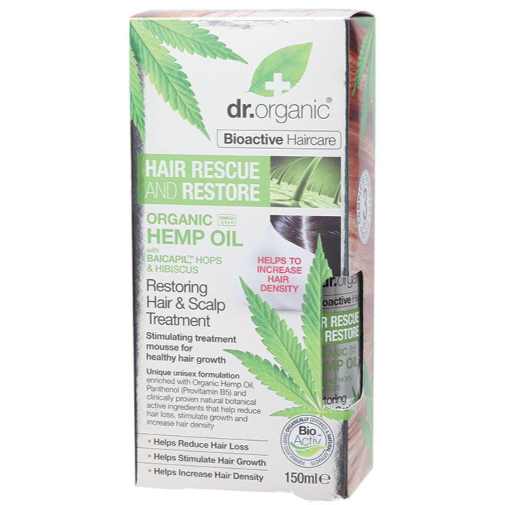 Dr Organic Restoring Hair and Scalp Treatment 150ml Organic Hemp Oil