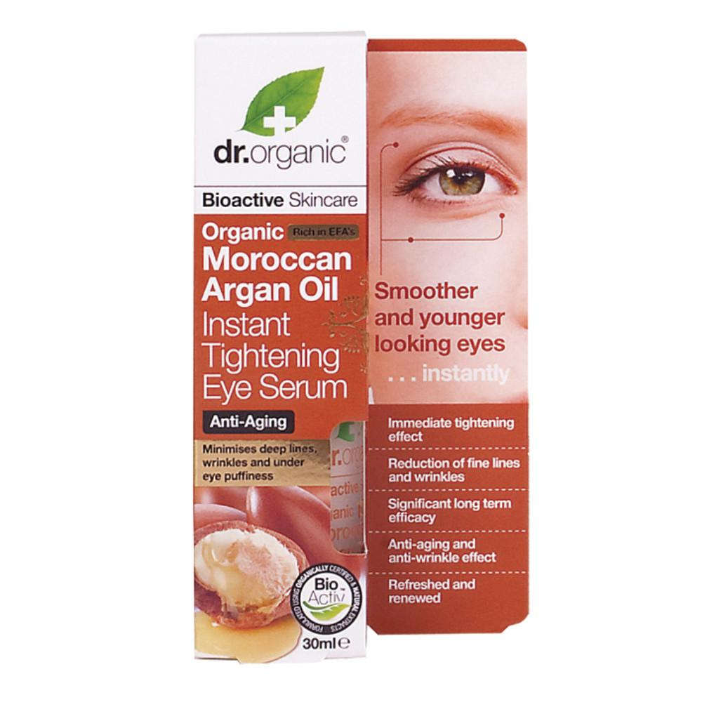 Dr Organic Tightening Eye Serum 30ml Organic Moroccan Argan Oil