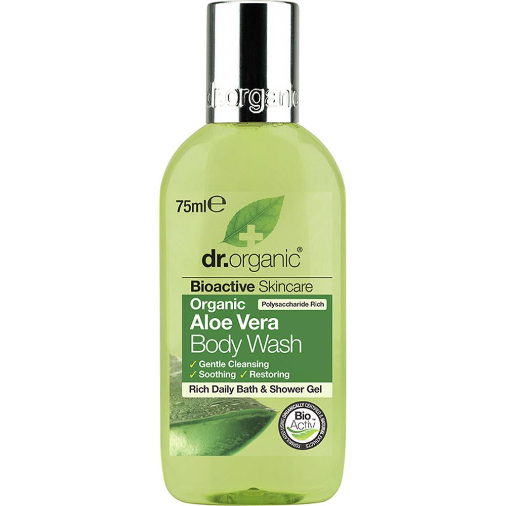 Dr Organic Travel Size Body Wash Organic Aloe Vera 75ml