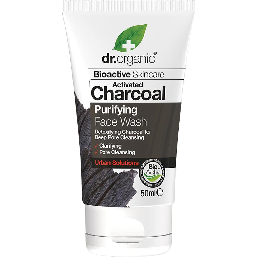 Dr Organic Travel Size Face Wash Activated Charcoal 50ml