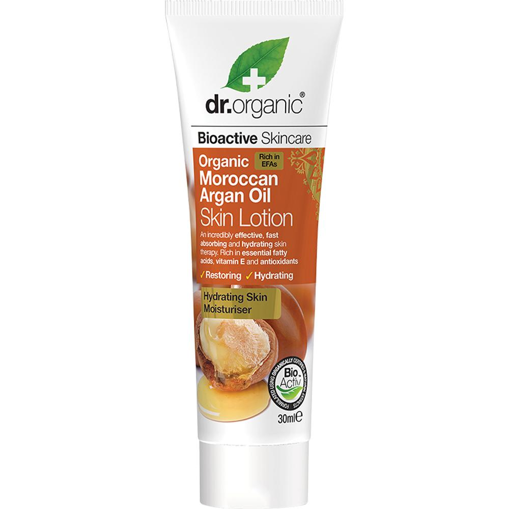 Dr Organic Travel Size Skin Lotion Organic Moroccan Argan Oil 30ml
