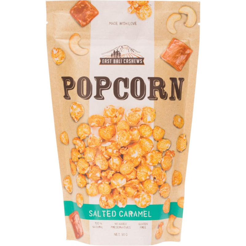 East Bali Cashews Salted Caramel Popcorn 90g With Cashews