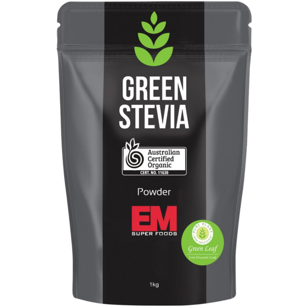 Em Super Foods Green Stevia Leaf Powder 1kg 100% Pure