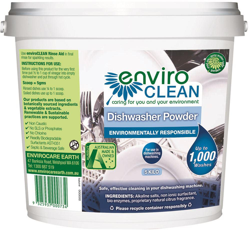Enviroclean Dishwasher Powder 5kg Bucket