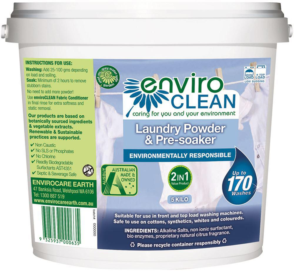 Enviroclean Laundry Powder PreSoaker 5kg Bucket