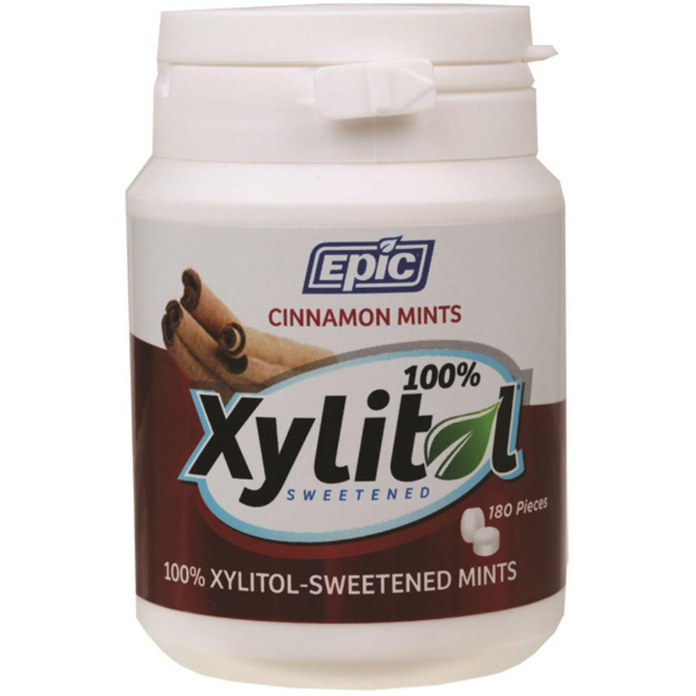 Epic Xylitol Dental Mints Cinnamon 180pc Tub