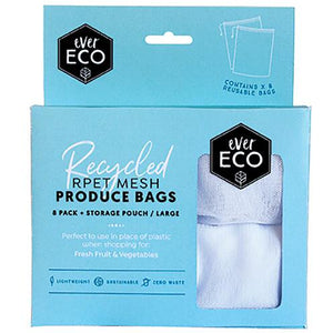 Ever Eco Reusable Produce Bags rPet Mesh 8 Pack & Storage Pouch