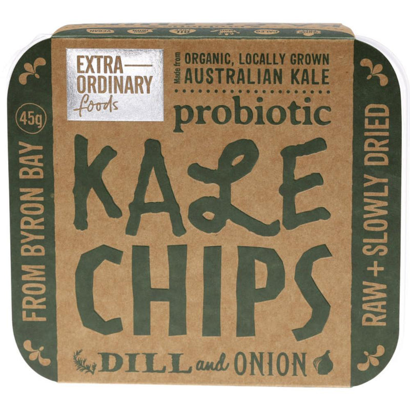 Extraordinary Foods Kale Chips 45g Dill and Onion