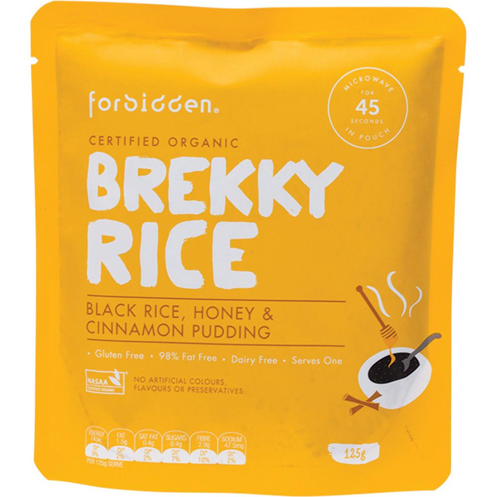 Forbidden Brekky Rice Pudding Black Rice Honey & Cinnamon 10 x 125g