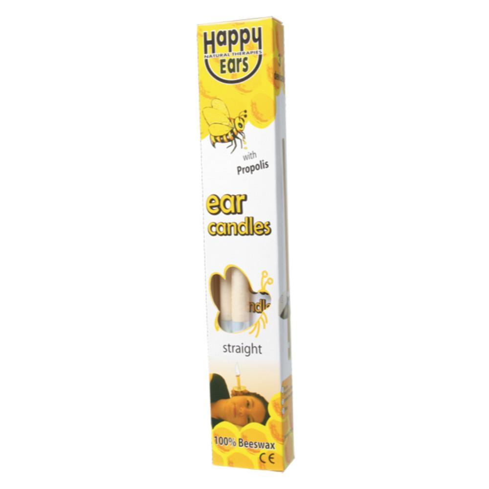 Happy Ears Ear Candles 2 100% Beeswax - Straight