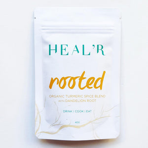 Heal'r Rooted Organic Turmeric Spice Blend with Dandelion Root 40g