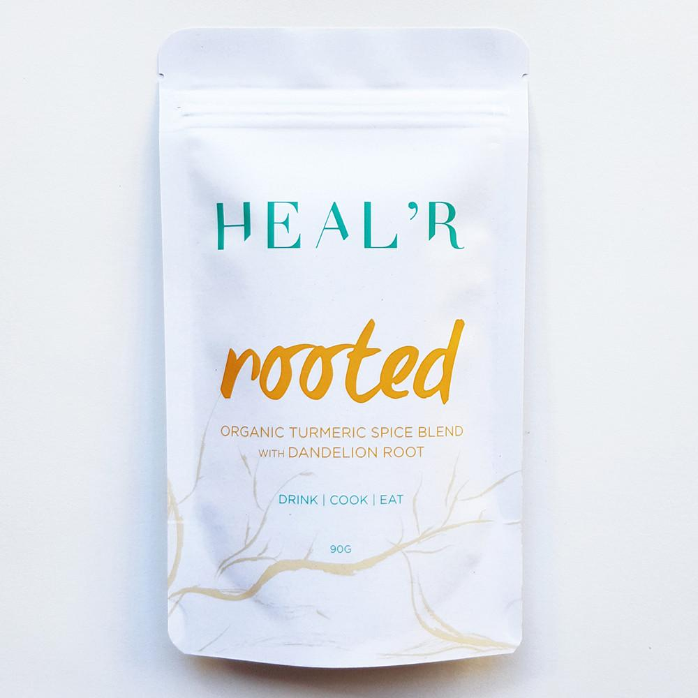 Heal'r Rooted Organic Turmeric Spice Blend with Dandelion Root 90g