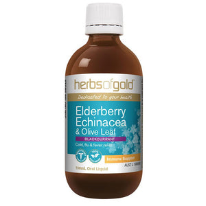 Herbs of Gold Elderberry Echinacea and Olive Leaf 100ml
