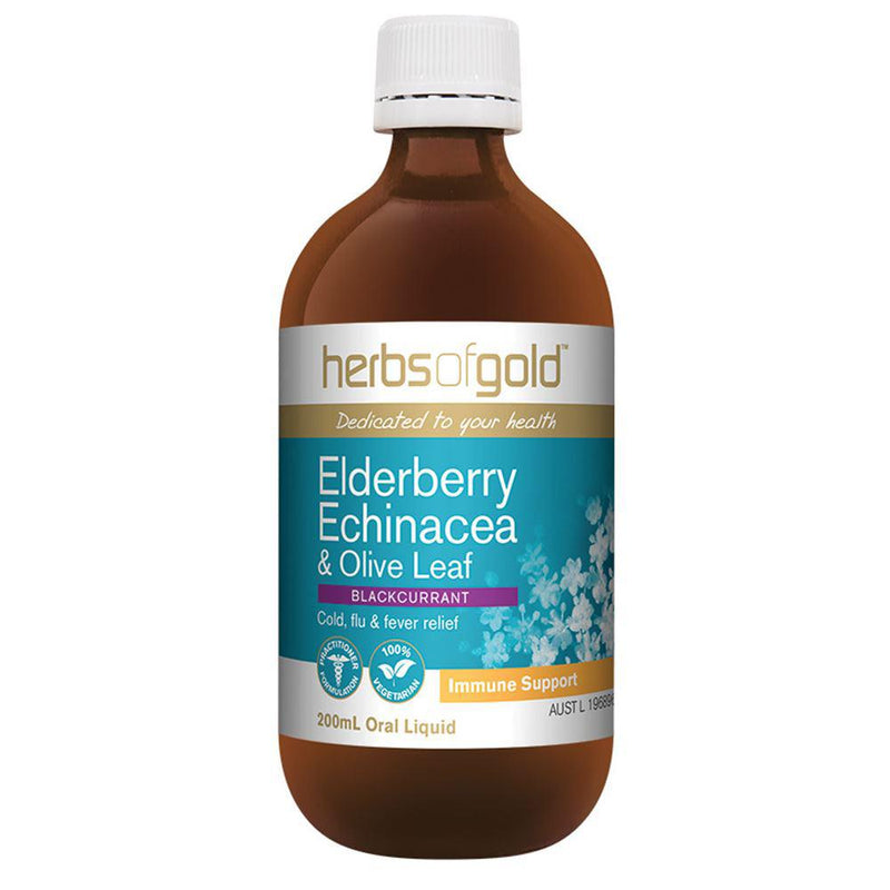 Herbs of Gold Elderberry Echinacea and Olive Leaf 200ml