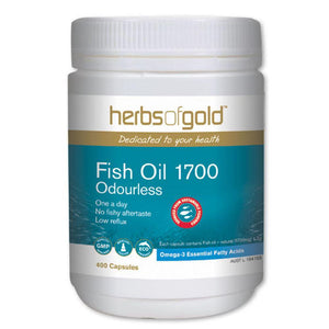 Herbs of Gold Fish Oil 1700 Odourless 400c