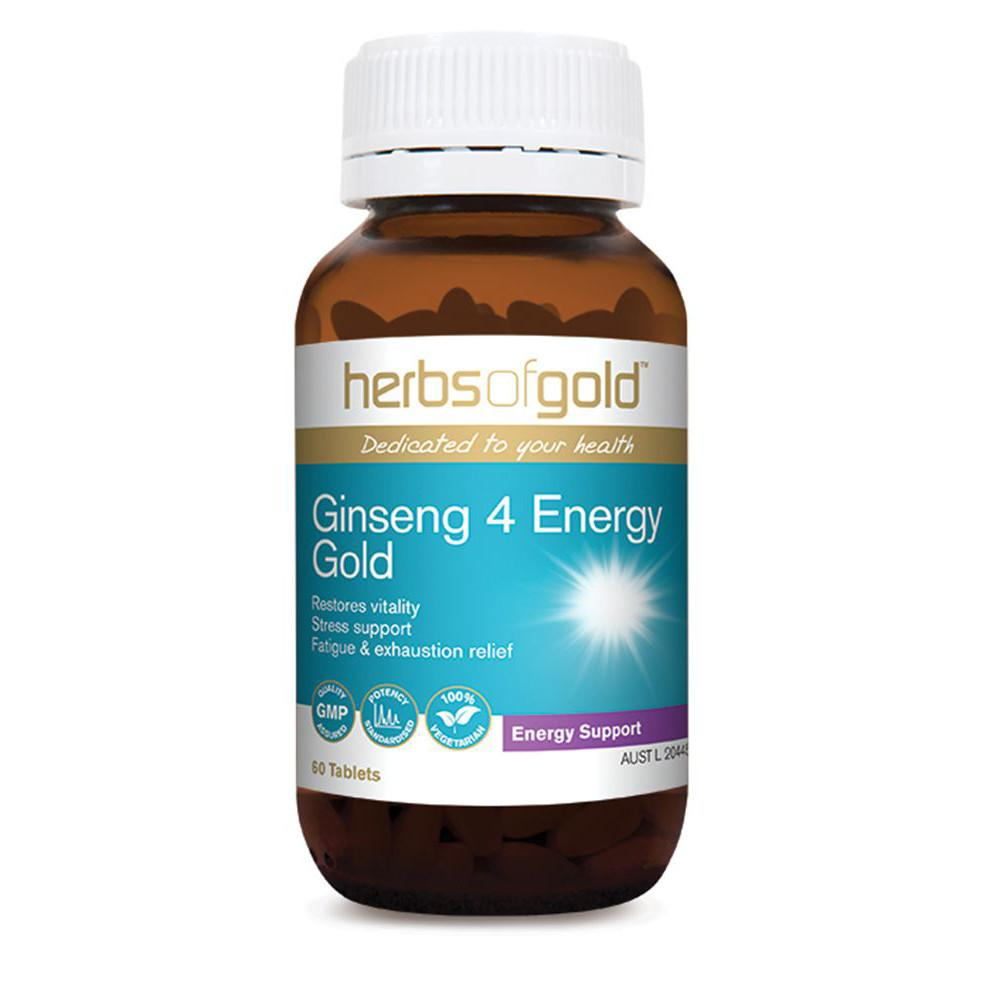 Herbs of Gold Ginseng 4 Energy Gold 60t