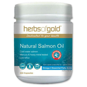 Herbs of Gold Natural Salmon Oil 400c