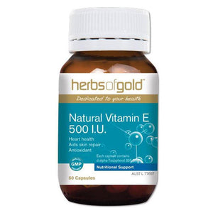 Herbs of Gold Natural Vitamin E 500IU 50c