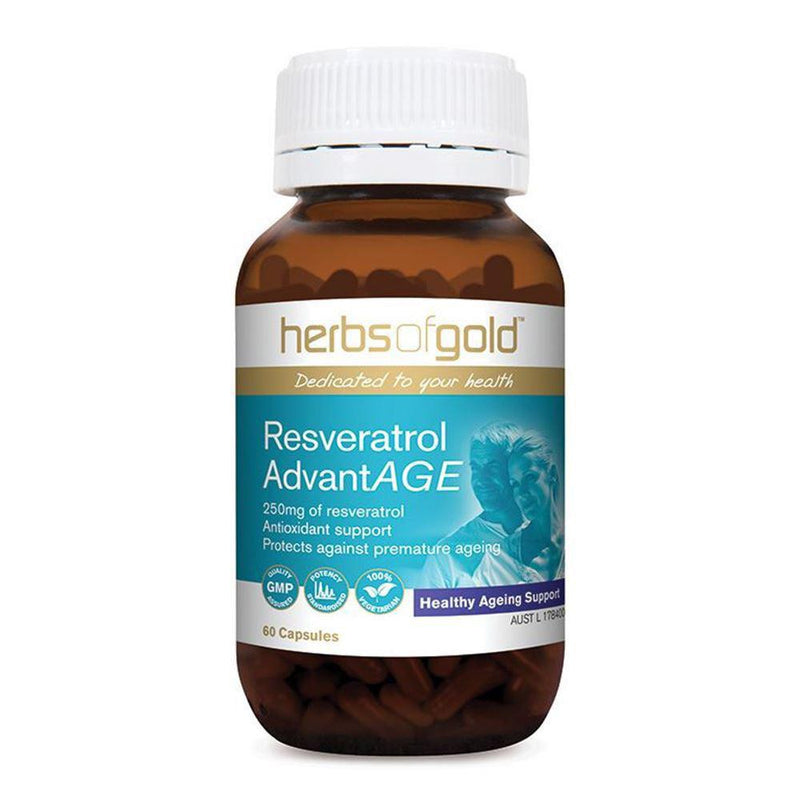 Herbs of Gold Resveratrol AdvantAge 60vc