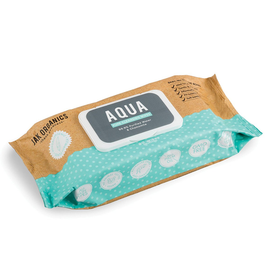 Jak Organics Aqua Pure Cleansing Wipes x 80 Pack