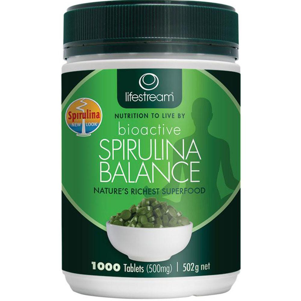 LifeStream Bioactive Spirulina Balance 500mg 1000c