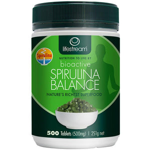 LifeStream Bioactive Spirulina Balance 500mg 500t